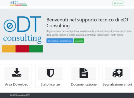 Nuovo sito web assistenza: https://assistenza.edtc.it