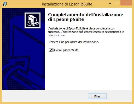 Fine installazione Epson FP suite