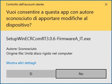 Installazione WinECRCom RT: Controllo account utente
