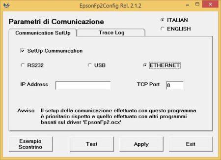 RT Epson: connessione rete Ethernet