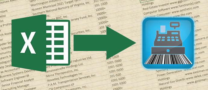 Importare i dati da Excel a Negozio Facile