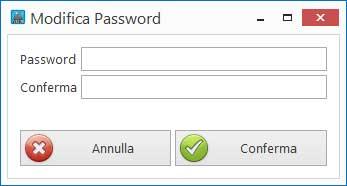 Modifica password utente