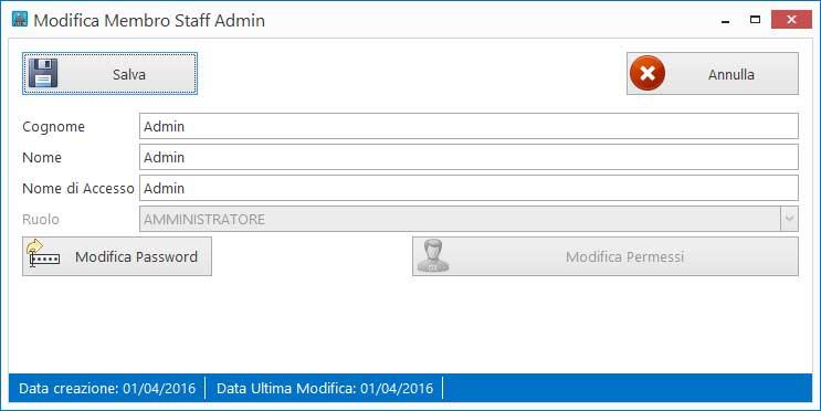 Modifica dati utente