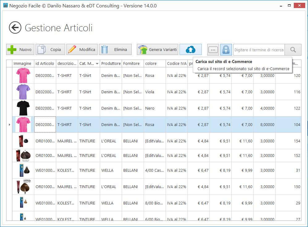eCommerce: gestione articoli singoli e variabili